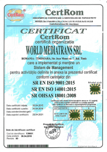 ISO 9001, 14001, 18001 - 2020