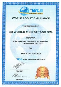 WLA Certificate