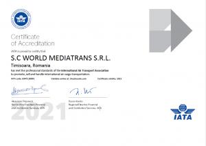 IATA certificate 2021